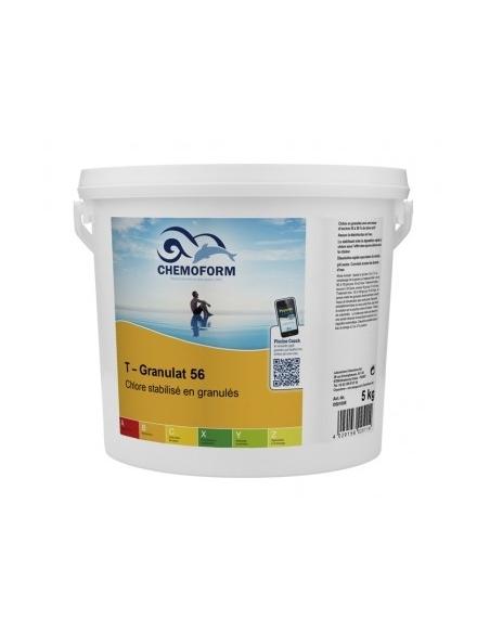 Chlore choc stabilisé granulés seau de 5 kg - CHEMOFORM